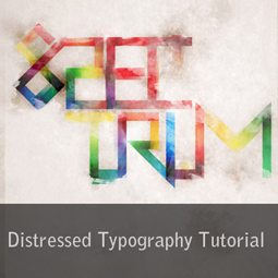 distressed typography tutorial