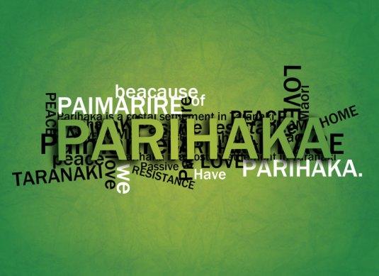 Parihaka typography postcard