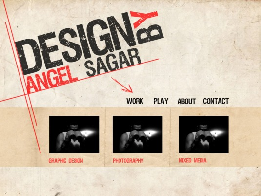 Angel web layout
