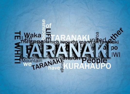 taranaki typography postcard