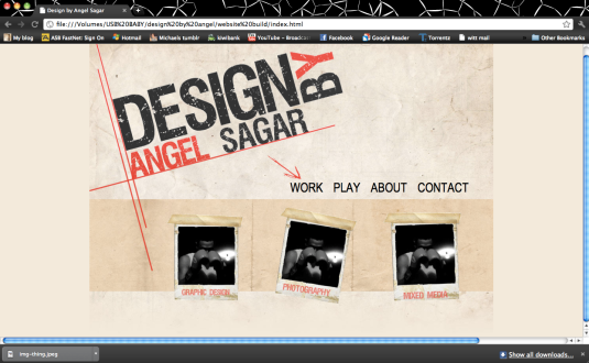 new home page